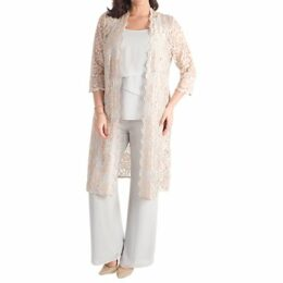Chesca Scallop Lace Coat, Gold