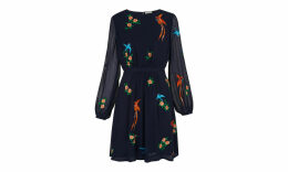 Aria Embroidered Bird Dress
