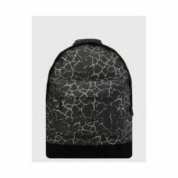 Mi-Pac Cracked Backpack - Black/Silver (One Size Only)