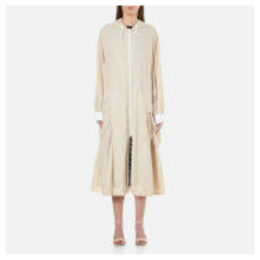 DKNY Women's Pure Reversible Oversized Hooded Coat - Gesso/Nude