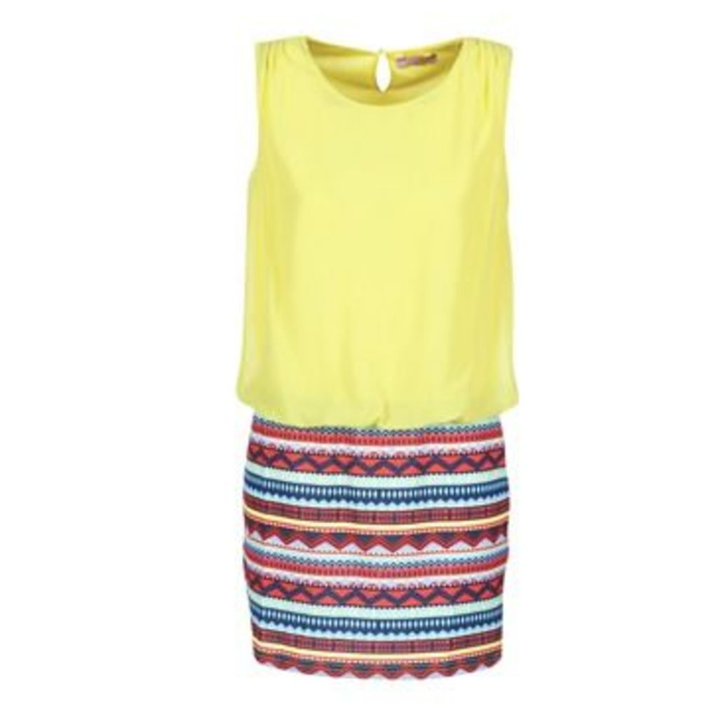 Moony Mood  IEVELI  women's Dress in Yellow