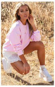 Light Pink Ultimate Oversized Sweater, Light Pink