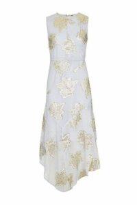 Womens Hanky Hem Lace Midi Dress - Lilac, Lilac