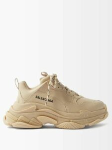 The Row - Nettle Collarless Silk Cloqué Coat - Womens - Mid Beige
