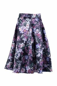 Floral Flare Cut Skirt