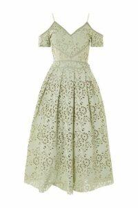 Womens TALL Laser Cut Midi Prom Dress - Mint, Mint
