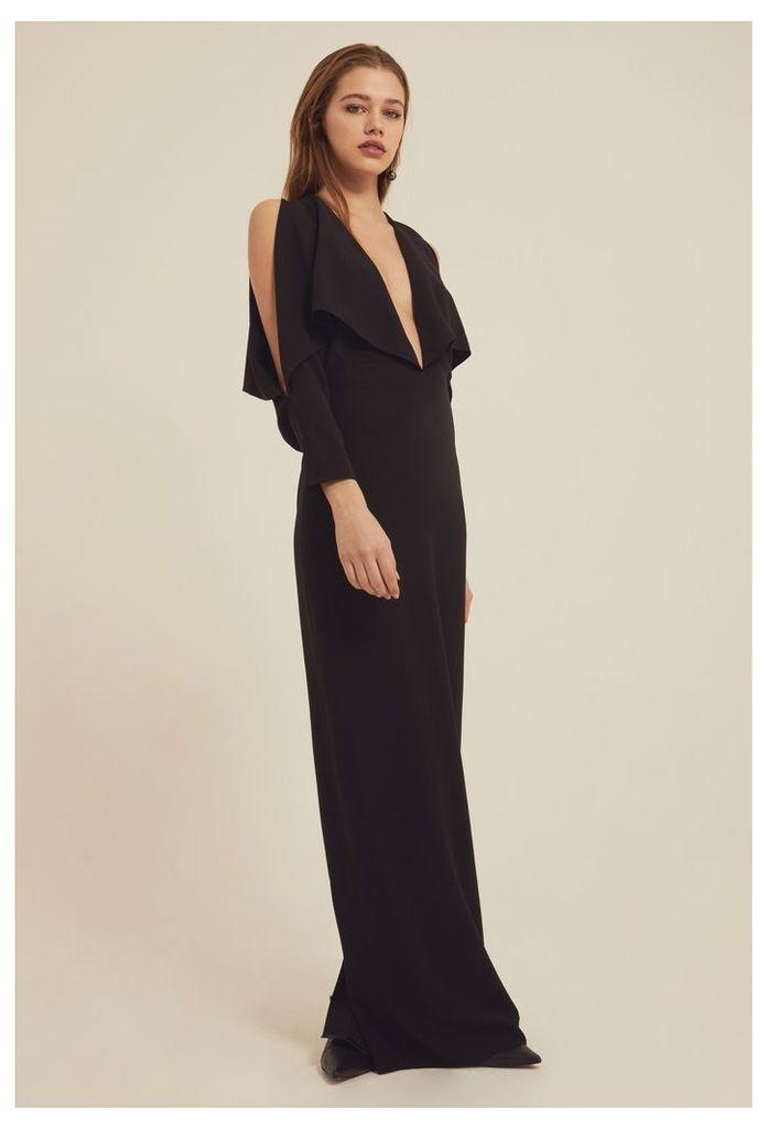 5407563dbb Larissa Deep Plunge Maxi Dress - Black by AQ AQ