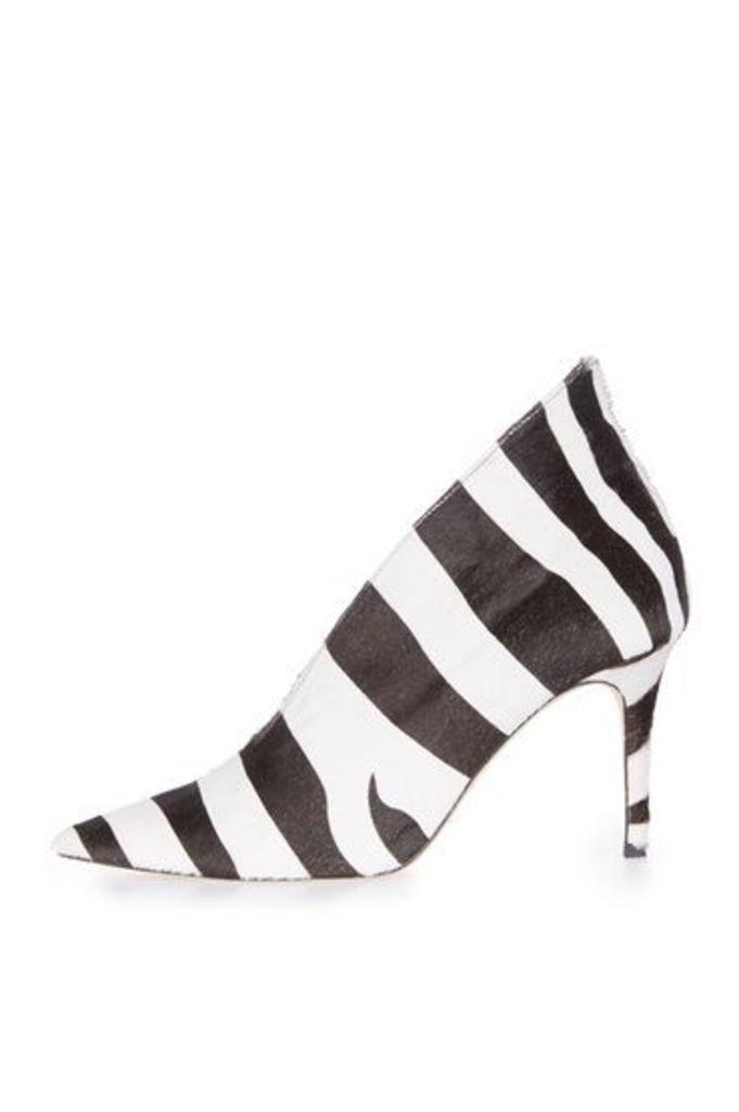 Womens **Pointed Zebra Heels by Unique - Multi, Multi