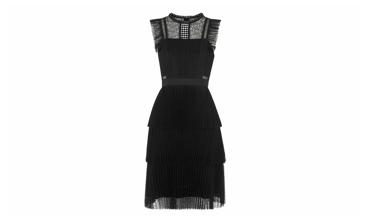 Anouk Frill Lace Dress