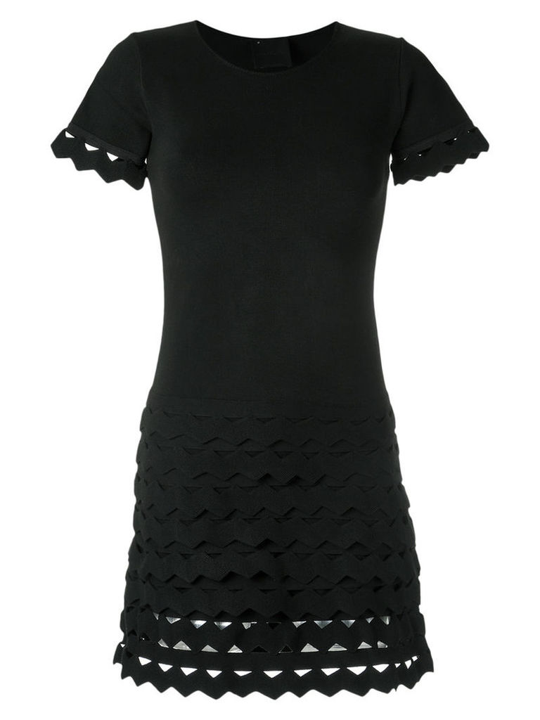 Andrea Bogosian - panelled dress - women - Cotton/Viscose - P, Women's, Black
