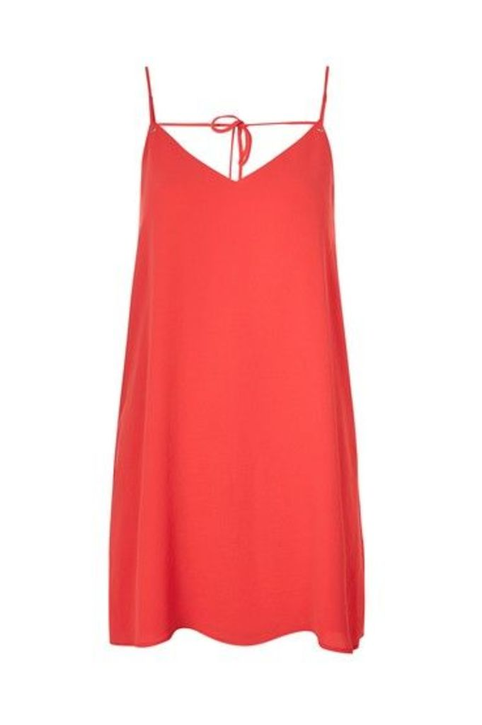 Womens Rouleau Slip Dress - Red, Red