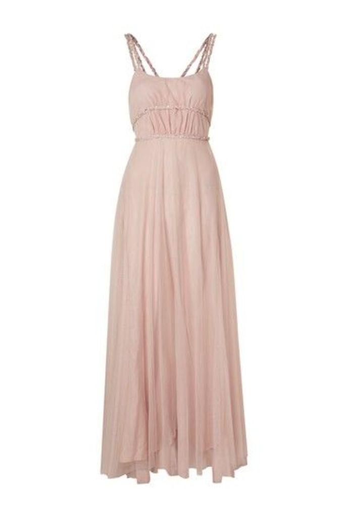 Womens Lilac Maxi Dress - Lilac, Lilac