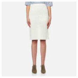 Paisie Women's Knitted Skirt - White