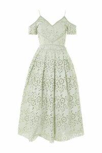 Womens Lasercut Prom Bardot Dress - Mint, Mint