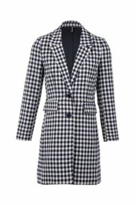 Gingham Check Coat