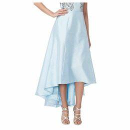 Raishma Taffeta Hi-Lo Skirt, Blue