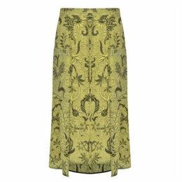 Diane Von Furstenberg Printed Silk Skirt