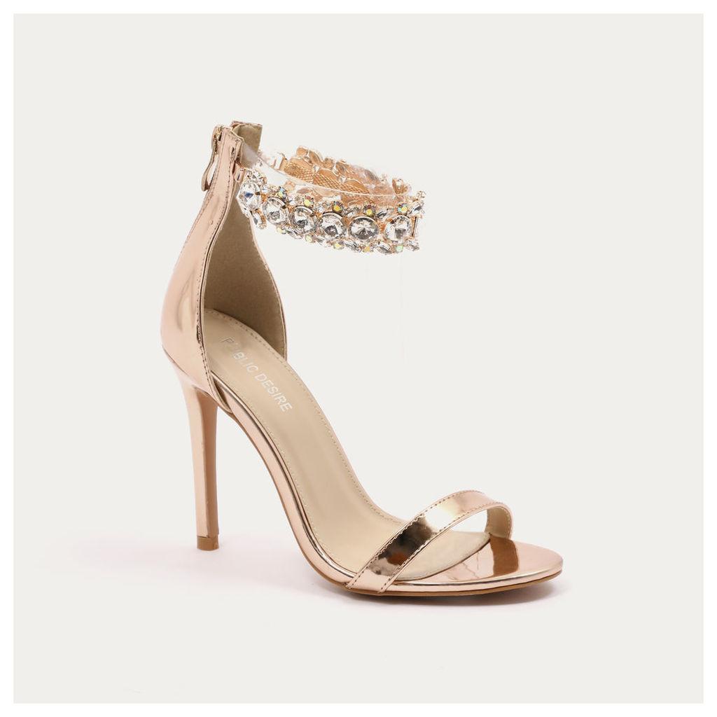 PUBLIC DESIRE Sandals Sale: PUBLIC DESIRE Rose Gold Fiji