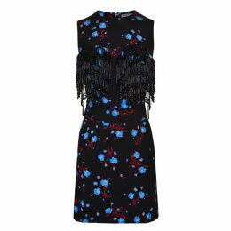 Ashley Williams Floral Beaded Bra Dress