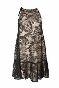 Womens Tieneck Swing Dress - Black, Black
