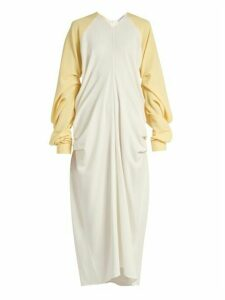 Jw Anderson - Draped Crepe Dress - Womens - Yellow White