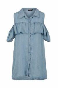 Cold Shoulder Frill Top Shirt