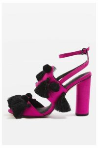 Womens RAVE Detailed Tassel Sandals - Pink, Pink