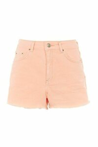 Womens MOTO Neon Mom Shorts - Bright Orang, Bright Orang