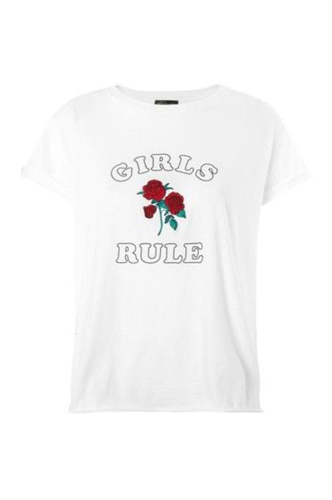 Womens FTBC Charity Motif T-Shirt - White, White