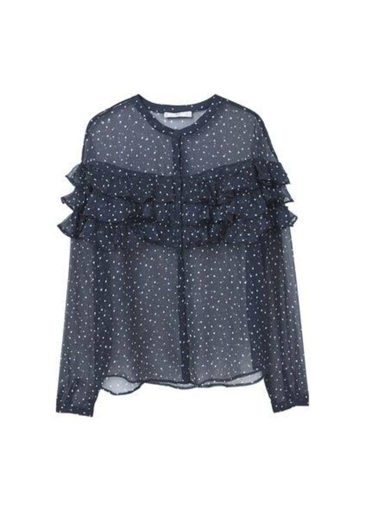 Frills tulle blouse