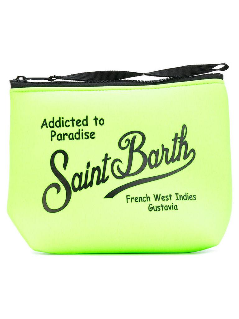Mc2 Saint Barth - logo print zip clutch - women - Neoprene - One Size, Green