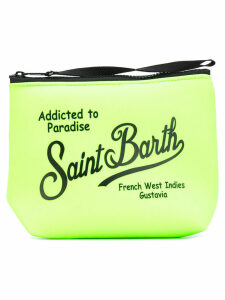 Mc2 Saint Barth - logo print zip clutch - women - Neoprene - One Size, Green