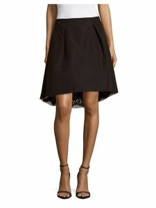 Lace-Lined Silk Skirt