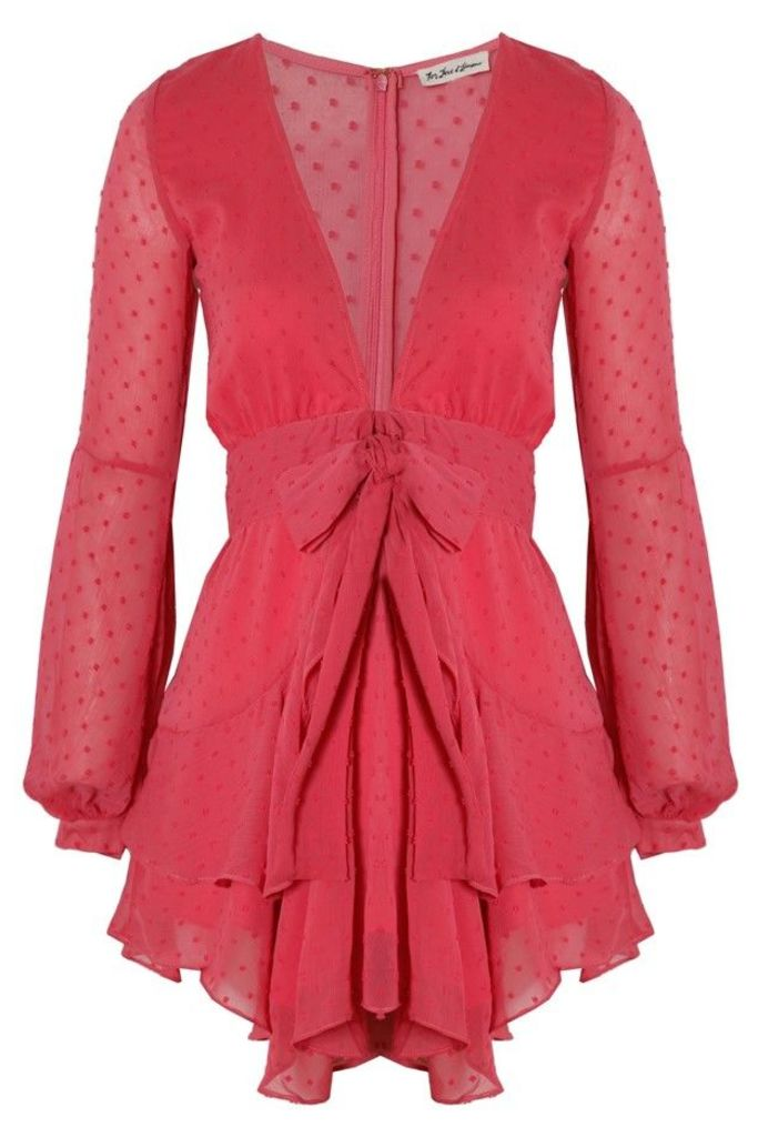 f53ad4c92f92 Tarta Long Sleeve Mini Dress Flamingo by For Love and Lemons