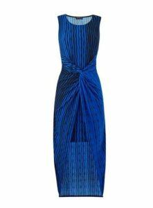 **Grace Blue High Low Hem Maxi Dress, Blue