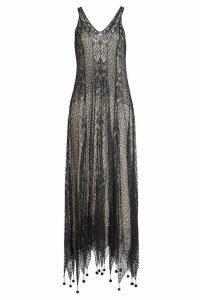 Alexander McQueen Silk Lace Dress with Pom Poms