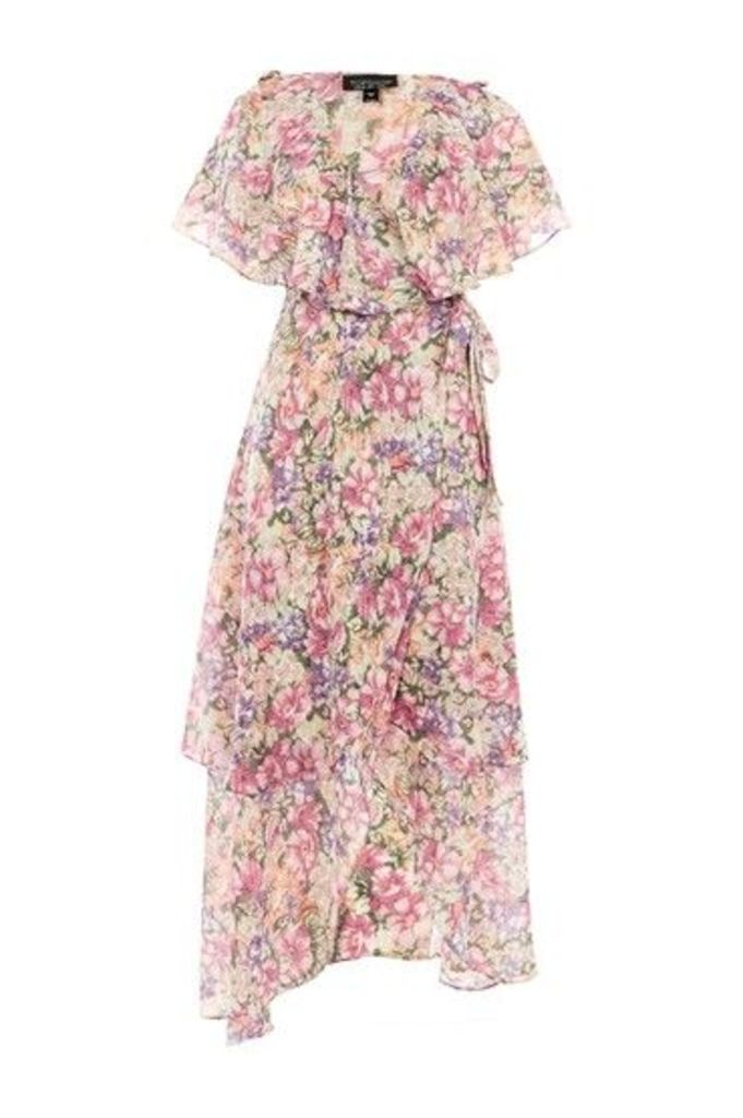 Womens Garden Floral Wrap Maxi Dress - Multi, Multi