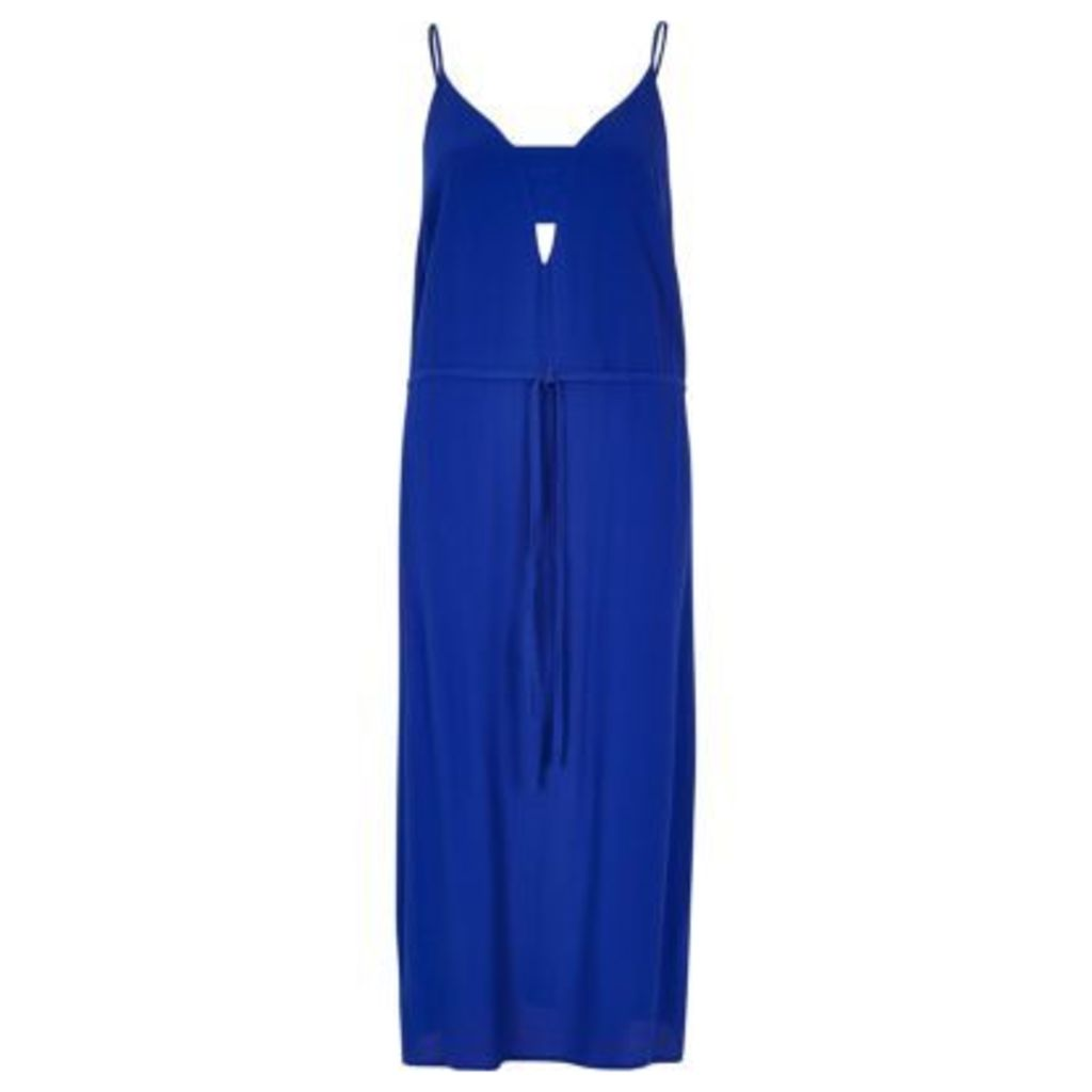 River Island Womens Bright Blue midi slip dress
