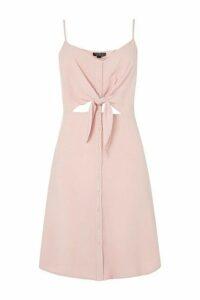 Womens TALL Knot Front Mini Dress - Pink, Pink