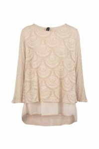 Scallop Lace Tunic Top