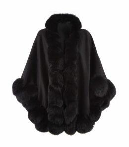 Fox Fur Spiral Trim Cape