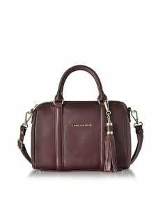 Lancaster Paris Designer Handbags, Mademoiselle Ana Grained Leather Small Duffle Bag
