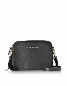 Lancaster Paris Designer Handbags, Mademoiselle Ana Grained Leather Crossbody Bag