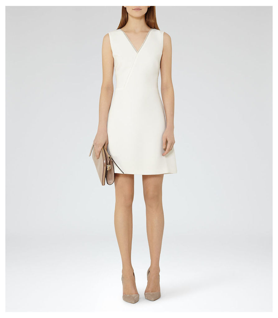 a4faea558b Reiss Gianna - Lace-trim Shift Dress in Off White, Womens, Size 10 ...