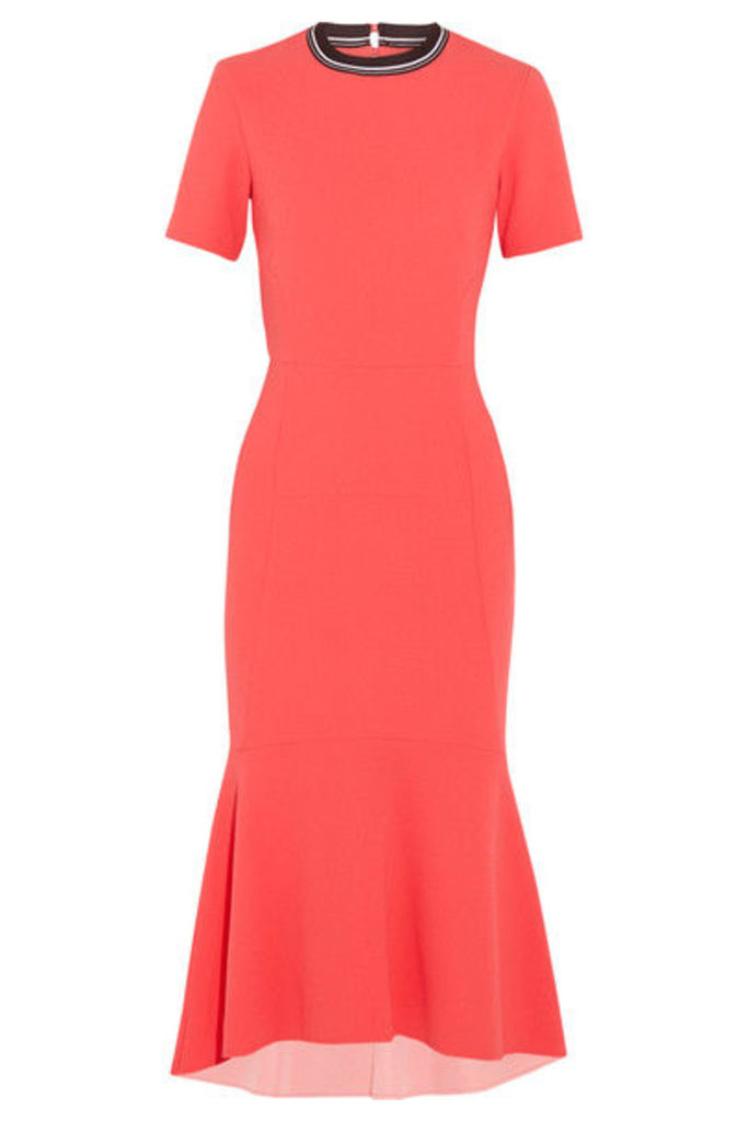 Rebecca Vallance - Breakers Open-back Cloqué Midi Dress - Red