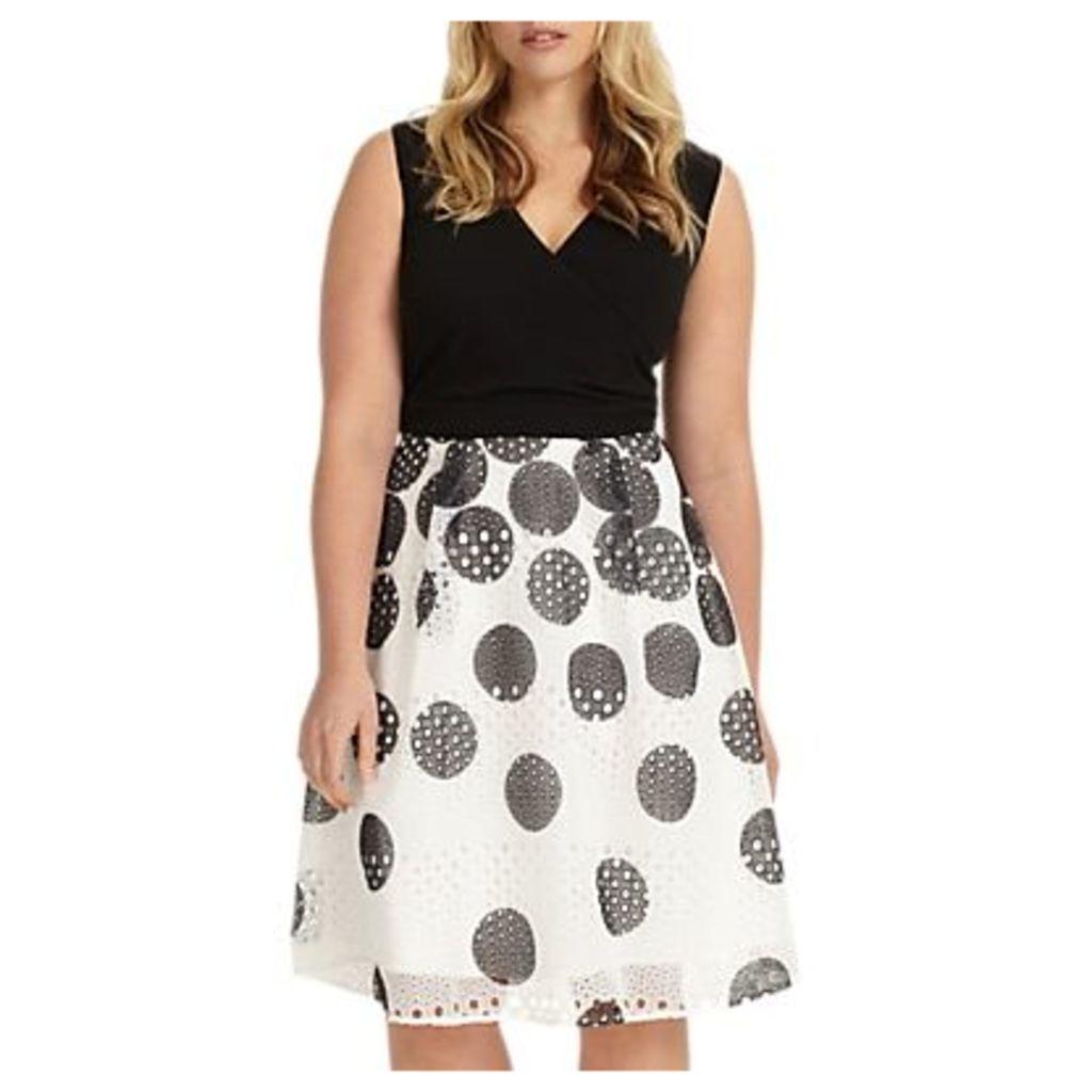 Studio 8 Tiggy Spotted Dress, Black/White