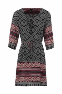 Aztec Print Shift Dress