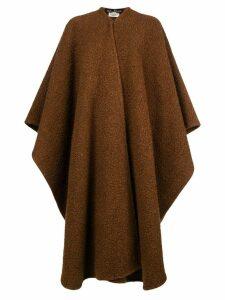 Salvatore Ferragamo Pre-Owned oversized draped cardi-coat - Brown