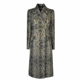 Just Cavalli Snake Print Coat