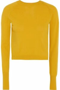 DKNY - Cropped Knitted Sweater - Mustard